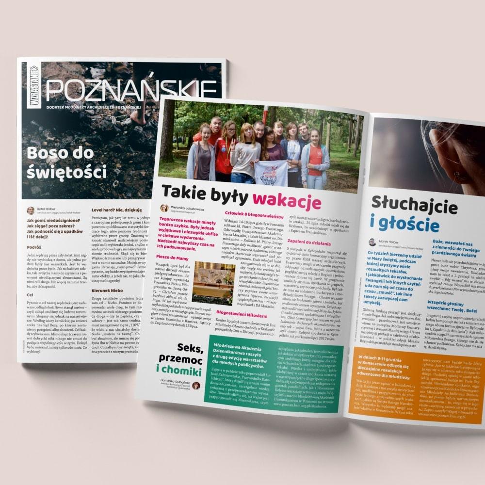 Poznańskie Wzrastanie - składanie gazet ibroszur Poznań